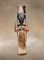 Ancient Egyptian shabtis doll, lwood, New Kingdom, 18th Dynasty, (1538-1040 BC), Deir el Medina. Egyptian Museum, Turin.
