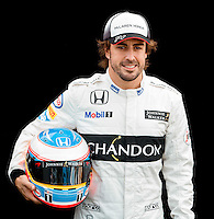 March 17, 2016: Fernando Alonso (ESP) #14 from the McLaren Honda Formula 1 team at the drivers' portrait session prior to the 2016 Australian Formula One Grand Prix at Albert Park, Melbourne, Australia. Photo Sydney Low