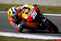 June 26, 2010 - Assen, Holland - Dani Pedrosa powers his bike during the Dutch Grand Prix at Assen, Holland, on June 26, 2010. (Photo Andrew Northcott/Nippon News).