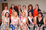 HEN NIGHT: Bride to be Kathryn Dineen, Cork City (seated centre) who will marry her sweet heart Declan Connolly, Marian Pk, Tralee next month started her Hen celebrations in La Scala, Tralee last Saturday seated l-r: Catherine Keating, Norma Purtill, Kathryn Dineen with Lorraine and Ann Connolly. Back l-r: Claire Connolly, Martina Flynn, Orla Fenix, Mary Joe Connolly, Pauline Lynch and Maggie Murphy.