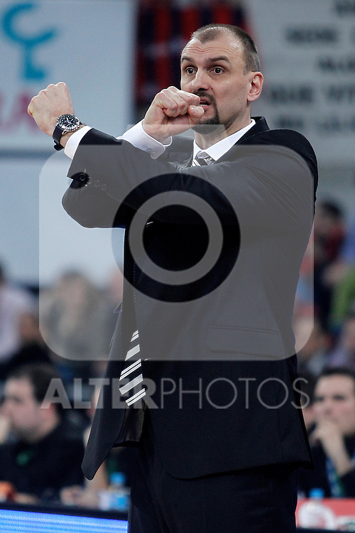 Caja Laboral Baskonia's coach Zan Tabak during Spanish Basketball King's Cup semifinal match.February 07,2013. (ALTERPHOTOS/Acero)