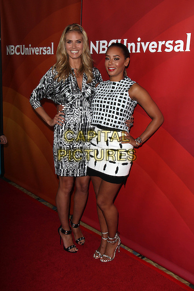 PASADENA, CA - April 08: Heidi Klum, Mel B (Melanie Brown) at the NBC Universal's Summer Press Day, Langham Hotel , Pasadena,  April 08, 2014.  <br /> CAP/MPI/JO<br /> &copy;Janice Ogata/MediaPunch/Capital Pictures