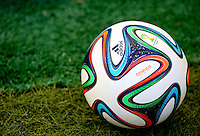 The Adidas Brazuca, official matchball of the 2014 FIFA World Cup