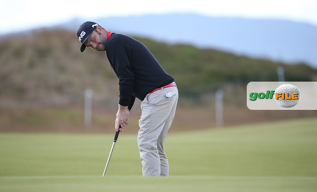 Andy Sullivan (ENG) putting across the 16th green during the First Round of the 2016 Aberdeen Asset Management Scottish Open, played at Castle Stuart Golf Club, Inverness, Scotland. 07/07/2016. Picture: David Lloyd | Golffile.<br /> <br /> All photos usage must carry mandatory copyright credit (&copy; Golffile | David Lloyd)