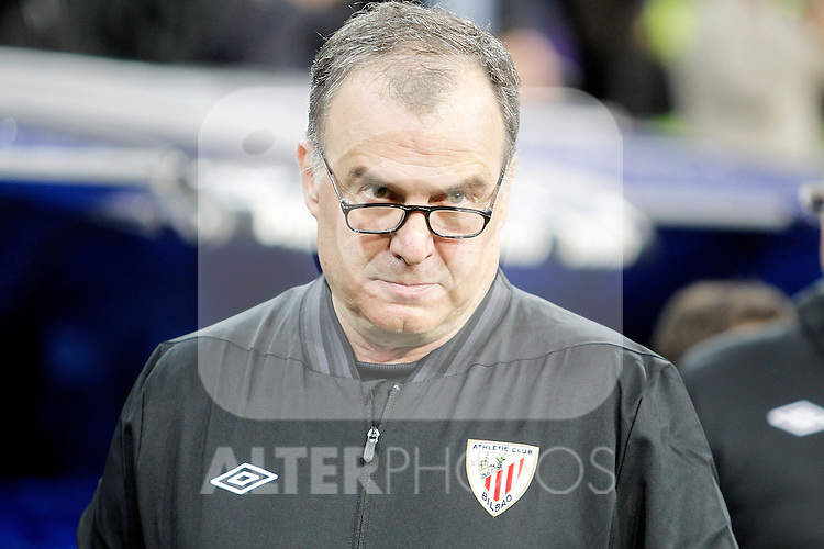 Athletic de Bilbao's coach Marcelo Bielsa during La Liga Match. November 17, 2012. (ALTERPHOTOS/Alvaro Hernandez)