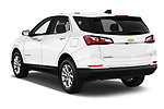 Car pictures of rear three quarter view of a 2019 Chevrolet Equinox LT 5 Door SUV angular rear