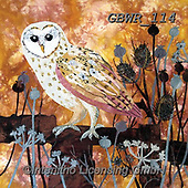 Simon, REALISTIC ANIMALS, REALISTISCHE TIERE, ANIMALES REALISTICOS, paintings+++++Card_KateF_AutumnBarnOwl,GBWR114,#a#, EVERYDAY