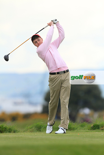 Kevin LeBlanc (The Island) on the 3rd tee during Round 3 of the Irish Amateur Open Championship at Royal Dublin on Saturday 9th May 2015.<br /> Picture:  Thos Caffrey / www.golffile.ie