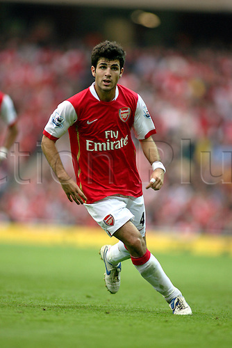 14 October 2006: Arsenal midfielder Cesc Fabregas full length during the Premiership game between Arsenal and Watford, played at The Emirates Stadium. Arsenal won the match 3-0. Photo: Actionplus....061014 football soccer player francesc