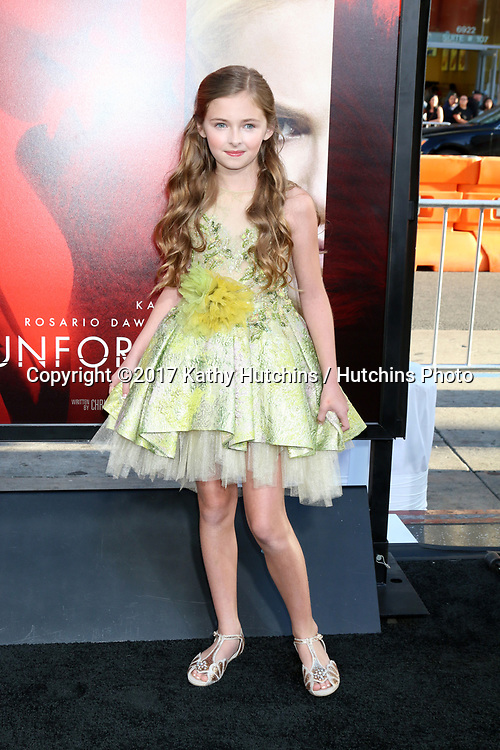 "LOS ANGELES - APR 18:  Isabella Kai Rice at the ""Unforgettable"" Premiere at TCL Chinese Theater IMAX on April 18, 2017 in Los Angeles, CA"
