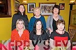 Celebrating Women's Christmas in Casa Mia's Restaurant, Listowel on Friday night last in front Beirne O'Shea, Yvonne Burgin & Joan Fealy. Back : Eileen OShea, Nora Carey & Rita McAuliffe all  from Lixnaw.