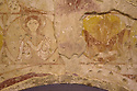 19/10/14 <br /> <br /> Painting shows Jesus (left) holding dead serpent to represent the conquering of evil and devil (right) holding live serpent to represent living evil.<br /> <br /> How one man&rsquo;s twenty-two year crusade to save a derelict church was bedeviled with problems but proved to be anything but folly.<br /> <br /> An Anglo Saxon church where unique ancient wall paintings were uncovered will soon begin the next phase of restoration . Church Warden, Bob Davey, 85 still opens the church to visitors every day and continues to oversee the restoration.<br /> <br /> Full copy here:<br /> <br /> http://www.fstoppress.com/articles/bob-davey-st-marys-church/<br /> All Rights Reserved - F Stop Press.  www.fstoppress.com. Tel: +44 (0)1335 300098