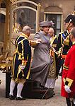 Netherlands, 21-09-2010, DEN HAAG, Prinsjesdag  , Koningin Beatrix arriveert in de Gouden Koets op het Binnenhof bij de Ridderzaal..  foto Michael Kooren/HH