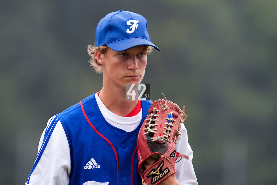 Baseball - 2009 European Championship Juniors (under 18 years old) - Bonn (Germany) - 08/08/2009 - Day 6 - Pierre Franc de Ferriere (France)