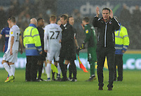 Bolton Wanderers manager Phil Parkinson applauds fans at the final whistle<br /> <br /> Photographer Kevin Barnes/CameraSport<br /> <br /> The EFL Sky Bet Championship - Swansea City v Bolton Wanderers - Saturday 2nd March 2019 - Liberty Stadium - Swansea<br /> <br /> World Copyright © 2019 CameraSport. All rights reserved. 43 Linden Ave. Countesthorpe. Leicester. England. LE8 5PG - Tel: +44 (0) 116 277 4147 - admin@camerasport.com - www.camerasport.com