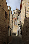 Iglesia de Santa Maria church, in historic medieval town of Trujillo, Caceres province, Extremadura, Spain