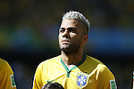 Daniel Alves (BRA), JUNE 28, 2014 - Football / Soccer : FIFA World Cup Brazil 2014 round of 16 match between Brazil and Chile at the Mineirao Stadium in Belo Horizonte, Brazil. (Photo by AFLO)