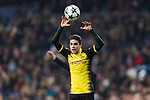 Borussia Dortmund Defender Marc Bartra looks to bring the ball for his teammates during the Europe Champions League 2017-18 match between Real Madrid and Borussia Dortmund at Santiago Bernabeu Stadium on 06 December 2017 in Madrid Spain. Photo by Diego Gonzalez / Power Sport Images