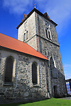 Tower of historic church building, Var Frue Kirke,  Trondheim, Norway