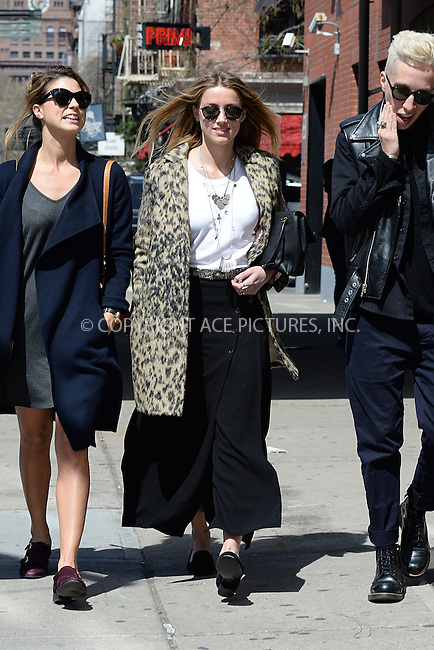 WWW.ACEPIXS.COM<br /> April 16, 2015 New York City<br /> <br /> Amber Heard walking with friends in Manhattan in New York City on April 16, 2015.<br /> <br /> By Line: Kristin Callahan/ACE Pictures<br /> ACE Pictures, Inc.<br /> tel: 646 769 0430<br /> Email: info@acepixs.com<br /> www.acepixs.com