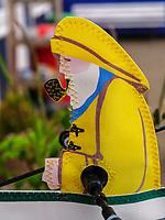 Souvenir-Windrad bei den Hummerbuden, Insel Helgoland, Schleswig-Holstein, Deutschland, Europa<br /> Souvenir-windmill at Hummer shacks, Helgoland island, district Pinneberg, Schleswig-Holstein, Germany, Europe
