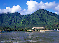 Hanalei pier with Mamaloha and Namolokama