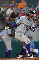 Luis Sierra # 7 of the of the  Winston-Salem Dash at bat during a game against the Myrtle Beach Pelicans on April 22, 2010 in Myrtle Beach, SC.