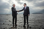 IHF-REPRO FREE: Michael Vaughan President, left and Tim Fenn, Chief Executive pictured on the shore of Lough Lein in Killarney on Sunday as hoteliers from all over Ireland arrive for the 75th annual Irish Hotels Federation Conference in The Malton Hotel.<br /> Picture by Don MacMonagle<br /> <br /> PR photo from IHF<br /> Further info: Eoin  Quinn Weber-Shandwick +353872332191