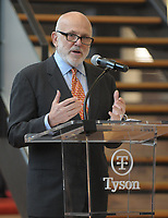 NWA Democrat-Gazette/DAVID GOTTSCHALK John Tyson, chairman of the board Tyson Foods, Inc., speaks Thursday, February 7, 2019, at the Tyson Foods, Inc., 56th Annual Meeting of Shareholders in Springdale.