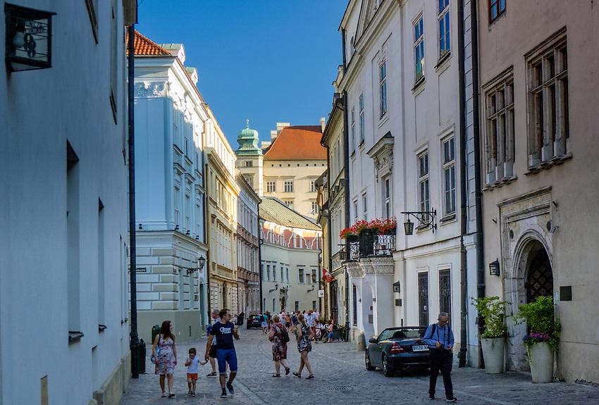 Ulica Kanonicza w Krakowie.<br /> Kanonicza Street in Cracow.