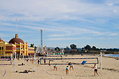 Volleyball, Santa Cruz Beach,  California, USA