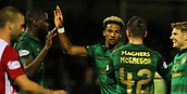 8th September 2017, SuperSeal Stadium, Hamilton, Scotland; Scottish Premier League football, Hamilton versus Celtic; Celtic's Scott Sinclair celebrates his first goal