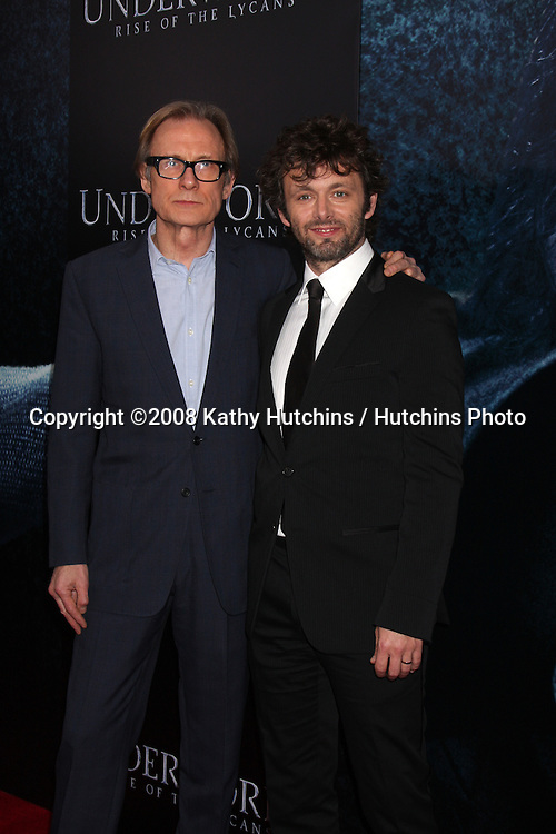 """Bill Nighy & Michael Sheen  arriving at the premiere of """"Underworld: Rise of the Lycans"""" at the ArcLight Theaters in Los Angeles, CA on .January 22, 2009.©2008 Kathy Hutchins / Hutchins Photo.."""