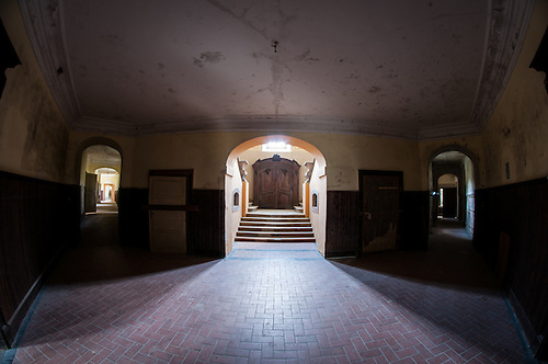 Old abandoned palace in East Germany