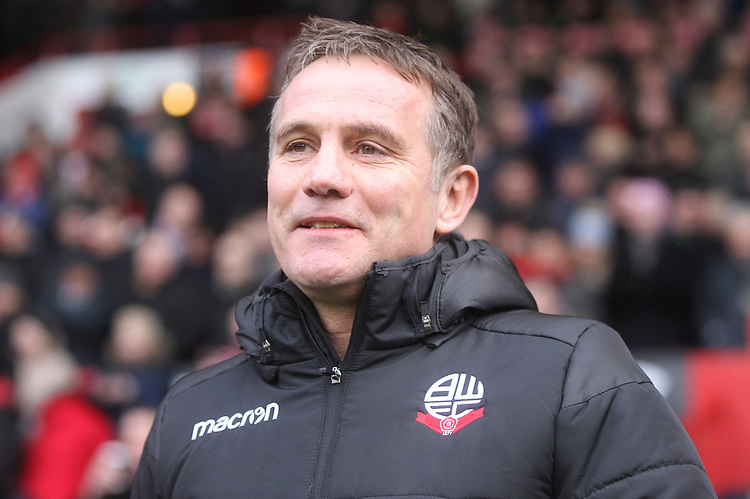 Bolton Wanderers Manager Phil Parkinson<br /> <br /> Photographer Mick Walker/CameraSport<br /> <br /> The EFL Sky Bet Championship - Sheffield United v Bolton Wanderers - Saturday 2nd February 2019 - Bramall Lane - Sheffield<br /> <br /> World Copyright © 2019 CameraSport. All rights reserved. 43 Linden Ave. Countesthorpe. Leicester. England. LE8 5PG - Tel: +44 (0) 116 277 4147 - admin@camerasport.com - www.camerasport.com