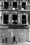 Derry Northern Ireland Londonderry. 1979. Burnt out building city center. 1979,..