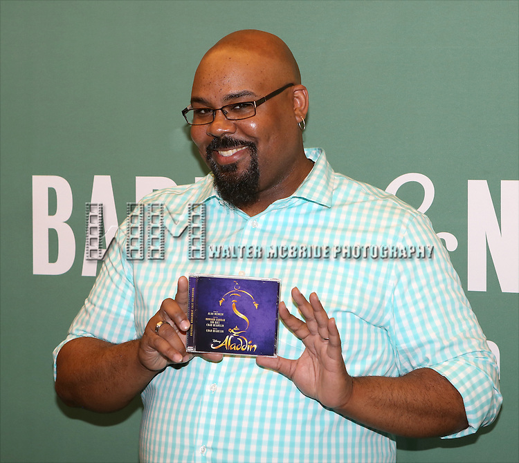 James Monroe Iglehart attends the  'Aladin' Broadway Cast CD Signing at Barnes & Noble Citigroup Center on June 20, 2014 in New York City.