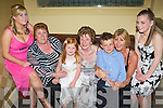 Enjoying themselves at Michael 'Fox' O'Connor's 60th birthday party held in The Brandon Hotel on Saturday night were l/r Jessica Ryan, Ann Ryan, Katie Mason, Alice Tiernan, Liam Mason, Betty Mason and Orla Griffin..   Copyright Kerry's Eye 2008