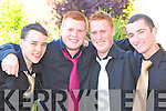 FUN TIME: Having a fun time at the Killarney Presentation Debs at the Earl of Desmond Hotel on Friday night l-r: Donal O'Donoghue, Nigel O'Shea, Andrew Duggan and Sean Kerins.   Copyright Kerry's Eye 2008