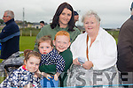 Olivia Fitzgerald, Mia Fitzgerald, Eoin Fitzgerald, Hillary Fitzgerald and Kathleen Fitzgerald,all from Limerick staying for the summer enjoying the Ballyheigue pig Race