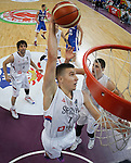 Kosarka FIBA Olympic Basketball Qualifying Tournament-Semifinals-Polufinale<br /> Serbia v Czech Republic<br /> Bogdan Bogdanovic (C) Milos Teodosic (L) and Nikola Jokic (R)<br /> Beograd, 08.07.2016.<br /> foto: Srdjan Stevanovic/Starsportphoto&copy;