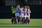 The High Point Panthers huddle up prior to the start of their match against the Duke Blue Devils at Koskinen Stadium on September 11, 2016 in Durham, North Carolina.  The Blue Devils defeated the Panthers 4-1.   (Brian Westerholt/Sports On Film)