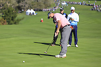 Matthew Cain putts on the 6th green at Pebble Beach Golf Links during Saturday's Round 3 of the 2017 AT&amp;T Pebble Beach Pro-Am held over 3 courses, Pebble Beach, Spyglass Hill and Monterey Penninsula Country Club, Monterey, California, USA. 11th February 2017.<br /> Picture: Eoin Clarke | Golffile<br /> <br /> <br /> All photos usage must carry mandatory copyright credit (&copy; Golffile | Eoin Clarke)