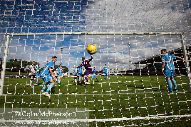 Edinburgh City's Ousman See opens the scoring against Berwick Rangers. The visitors struck back with two late goals to secure victory at Meadowbank. Despite taking the lead in the 66th minute through Ousman See's goal, City lost the game 2-1, watched by a crowd of 410 and remained without a point at the foot of the table after four League games.
