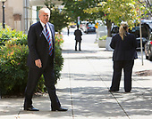 U.S. President Donald J. Trump departs St. John's Church in Washington, DC, on a day of prayer for the people affected by Hurricane Harvey, September 3, 2017. Photo By Chris Kleponis/ BloombergUnited States President Donald J. Trump departs St. John's Church in Washington, DC, on a day of prayer for the people affected by Hurricane Harvey, September 3, 2017.<br /> Credit: Chris Kleponis / Pool via CNP