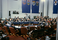Ottawa (ON) CANADA -1989  file photo (exact date unknown)<br /> -Premiers annual conference with Lucien Bouchard, Brian Mulroney, Robert Bourassa and Premiers of other Canadian provinces