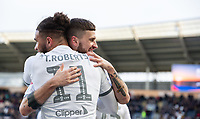 Leeds United's Tyler Roberts celebrates scoring his side's fourth goal with Mateusz Klich<br /> <br /> Photographer Alex Dodd/CameraSport<br /> <br /> The EFL Sky Bet Championship - Hull City v Leeds United - Saturday 29th February 2020 - KCOM Stadium - Hull<br /> <br /> World Copyright © 2020 CameraSport. All rights reserved. 43 Linden Ave. Countesthorpe. Leicester. England. LE8 5PG - Tel: +44 (0) 116 277 4147 - admin@camerasport.com - www.camerasport.com
