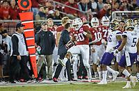 Stanford, CA - October 05, 2019: Austin Jones during the Stanford vs Washington football game Saturday night at Stanford Stadium.<br /> <br /> Stanford won 23-13.