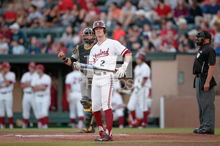 STANFORD, CA - May 27, 2016:  Stanford plays Oregon on Fireworks Night on Klein Field at Sunken Diamond. Stanford won 4-2.