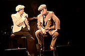 Dexys - vocalists Kevin Rowland and Pete Williams - performing live their new album 'One Day I'm Going To Soar' on the first of nine shows at the Duke of York Theatre in London UK - 15 Apr 2013.  Photo credit: George Chin/IconicPix